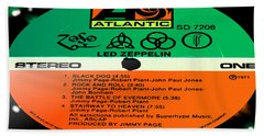 Led Zeppelin Iv Side 1 Beach Towel by Marcello Cicchini