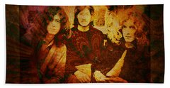 Led Zeppelin - Kashmir Beach Towel by Absinthe Art By Michelle LeAnn Scott
