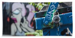 Leela In The Back Graffiti Beach Towel by Scott Campbell