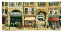 Les Rues De Paris Beach Sheet by Marilyn Dunlap