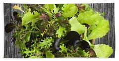 Lettuce Seedlings Beach Towel by Elena Elisseeva