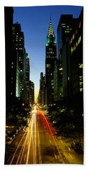 Lexington Avenue, Cityscape, Nyc, New Beach Towel by Panoramic Images