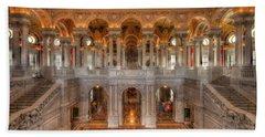 Library Of Congress Beach Towel by Steve Gadomski
