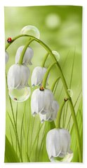 Lily Of The Valley Beach Towel by Veronica Minozzi