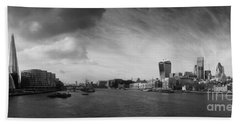 London City Panorama Beach Towel by Pixel Chimp