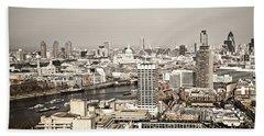 London Cityscape Beach Towel by Elena Elisseeva