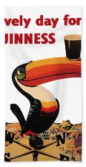Lovely Day For A Guinness Beach Towel by Nomad Art