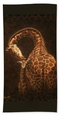 Love's Golden Touch Beach Towel by Crista Forest