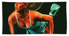 Maria Sharapova  Beach Sheet by Paul Meijering