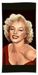 Marilyn Monroe 3 Beach Sheet by Paul Meijering