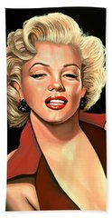 Marilyn Monroe 4 Beach Sheet by Paul Meijering