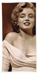 Marilyn Monroe Artwork 2 Beach Towel by Sheraz A