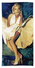Marilyn Monroe Artwork 4 Beach Towel by Sheraz A