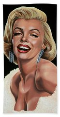 Marilyn Monroe Beach Sheet by Paul Meijering