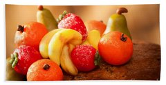 Marzipan Fruits Beach Towel by Amanda Elwell
