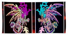 Mech Dragons Pastel Beach Towel by Shawn Dall