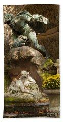 Medici Fountain - Paris Beach Sheet by Brian Jannsen