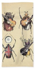 Meet The Beetles Beach Towel by Eric Fan