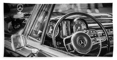 Mercedes-benz 250 Se Steering Wheel Emblem Beach Sheet by Jill Reger