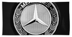 Mercedes-benz 6.3 Gullwing Emblem Beach Towel by Jill Reger