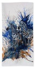 Merging With Shadows Beach Towel by Zaira Dzhaubaeva