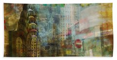 Mgl - City Collage - New York 04 Beach Towel by Joost Hogervorst