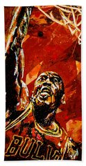 Michael Jordan Beach Towel by Maria Arango