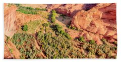 Miles To Go In Canyon De Chelly Beach Sheet by Bob and Nadine Johnston