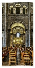 Monaco Cathedral Beach Towel by Maria Coulson
