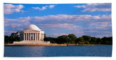 Monument On The Waterfront, Jefferson Beach Towel by Panoramic Images