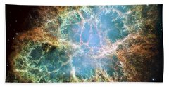 Most Detailed Image Of The Crab Nebula Beach Towel by Adam Romanowicz