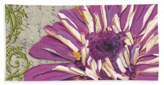 Moulin Floral 2 Beach Towel by Debbie DeWitt