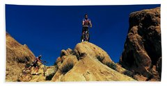 Mountain Bikers Ca Usa Beach Sheet by Panoramic Images