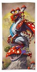 Mushroom Dragon Beach Towel by Stanley Morrison