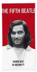 My Best Soccer Legend Poster Beach Towel by Chungkong Art