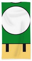 My Mariobros Fig 05b Minimal Poster Beach Sheet by Chungkong Art