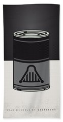 My Star Warhols Darth Vader Minimal Can Poster Beach Towel by Chungkong Art