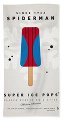 My Superhero Ice Pop - Spiderman Beach Towel by Chungkong Art