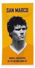 My Van Basten Soccer Legend Poster Beach Sheet by Chungkong Art