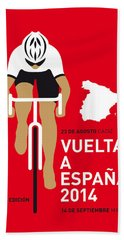 My Vuelta A Espana Minimal Poster 2014 Beach Sheet by Chungkong Art