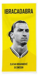 My Zlatan Soccer Legend Poster Beach Sheet by Chungkong Art