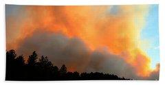 Beach Towel featuring the photograph Myrtle Fire Near Rifle Pit Road by Bill Gabbert