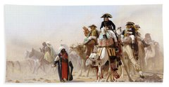 Napoleon And His General Staff Beach Sheet by Jean Leon Gerome