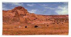 Navajo Nation Series Along Arizona Highways Beach Sheet by Bob and Nadine Johnston