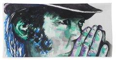 Neil Young Beach Sheet by Chrisann Ellis