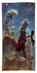 New Pillars Of Creation Hd Tall Beach Towel by Adam Romanowicz