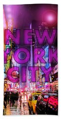 New York City - Color Beach Towel by Nicklas Gustafsson