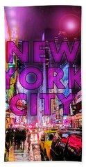New York City - Color Beach Sheet by Nicklas Gustafsson