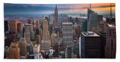 New York New York Beach Towel by Inge Johnsson
