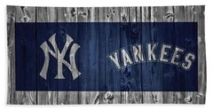 New York Yankees Barn Door Beach Sheet by Dan Sproul